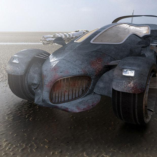 illustration voiture 3D